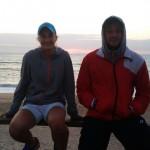 Z trenerem na plaży :D